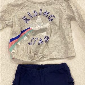 Old Navy baby girl tie front outfit.